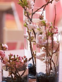 85 Beautiful Cherry Blossom Wedding Themed Decoration Ideas You Will Totally Love - LovellyWedding Cherry Blossom Centerpiece, Cherry Blossom Party, Cherry Blossom Flowers, March Wedding Flowers, Spring Wedding, Wedding Themes, Wedding Styles, Wedding Ideas, Wedding Centerpieces