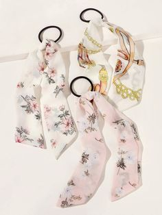 3pcs Floral Pattern Hair Tie | SHEIN South Africa Hair Ties, Shopping Bag, Hair Accessories, Floral, Pattern, Bags, South Africa, Fashion, Ribbon Hair Ties