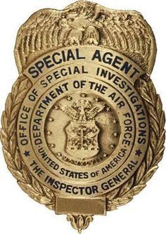 United States Air Force OSI Office Of Special Investigations Poster