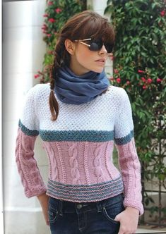 knitting pullover for men& ideas ,warm dressing,winter sweater,clothing with braids, Winter Sweaters, Cable Knit Sweaters, Sweaters For Women, Crochet Shirt, Knit Crochet, Sweater Design For Ladies, Cable Knitting Patterns, Crochet Scarves, Knitwear
