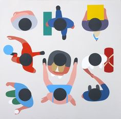 Geoff McFetridge is a LA-based artist who works across a great variety of media including graphic design, illustration and animation for clients such as OK GO, spike jonze, the new york times, the. Graphic Illustration, Graphic Art, Graphic Design, Geoff Mcfetridge, Museum Of Contemporary Art, Arte Popular, Illustrations And Posters, New Shows, Art Plastique