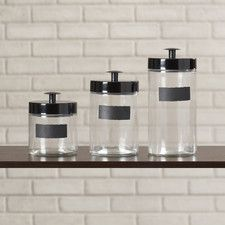 Clearview 3 Piece Canister Set