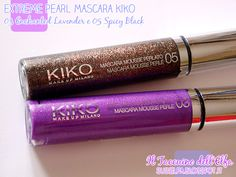 Extreme Pearl Mascara 03 Enchanted Lavender e 05 Spicy Black Dashing Holidays Kiko