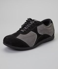 Another great find on #zulily! Barefoot Freedom Black & Gray Elite Leather Sneaker by Barefoot Freedom #zulilyfinds