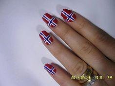 17. Mai Negler - Norwegian Flag Nails - YouTube