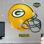 Green Bay Packers Helmet Fathead at the Packers Pro Shop