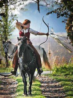 Horseback archery-now, imagine it with SAFE Archery arrows by Archery Tag for LARP....