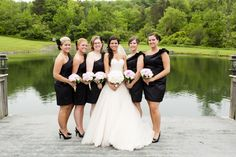 I reeeeally like the Bride's dress!! And the black bridesmaids... but it's all a bit formal for me