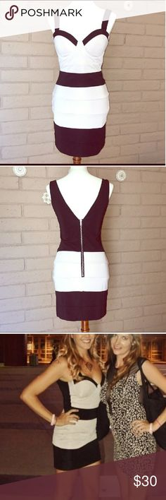 Bandage bodycon dress This is by Glamorous but purchased from ASOS. New and never worn! This is a UK 10=US 6 but fits like a 4 Asos Dresses
