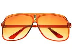 Fancy Large Flat Top Aviator Sunglasses Brown A712