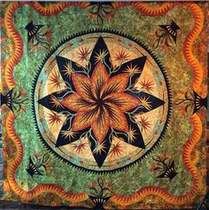 Paradise In Blooms, Quiltworx.com, Made by Janet Spinks.