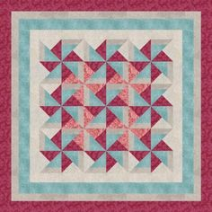 Pinwheel Quilt Blocks (Create Them In-The-Hoop Or By Paper-Foundation Piecing! You Will Get Three Blocks, Including The Super Simple Whirlwind, The Intricate And Elegant Pinwheel, And The Basic Y-Block Pinwheel Variation!)