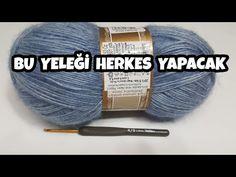 Alize Angora ile Derya Baykal Yelek Modeli 1.Bölüm - YouTube Knitting Patterns, Crochet, Handmade, Youtube, Ponchos, Handarbeit, Knit Patterns, Hand Made, Chrochet