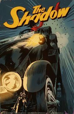 THE ROARING SHADOW!!!! (SHADOW #17) Cover Art by Francesco Francavilla