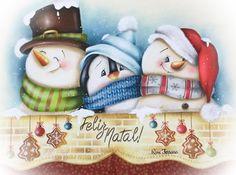 Christmas Drawing, Christmas Paintings, Christmas Art, Christmas Decorations, Christmas Ornaments, Illustration Noel, Christmas Illustration, Illustrations, Snowman Images