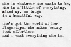 the world at her fingertips.
