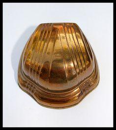 ANTIQUE VINTAGE ART DECO JEWELRY RING BOX CASE VELVET METAL SEASHELL RARE 1920s ----Want it!