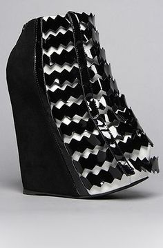 3c5401945a570c The Nokea Shoe in Black and White by Jeffrey Campbell  kinda ugly