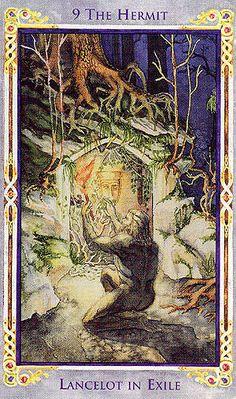 The Hermit (Lancelot in Exile) - Legend: Arthurian Tarot by Anna-Marie Ferguson