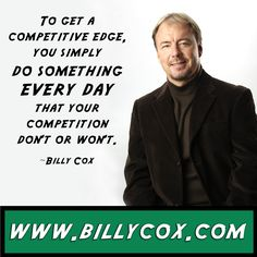 Get a competitive edge...the competitive advantage