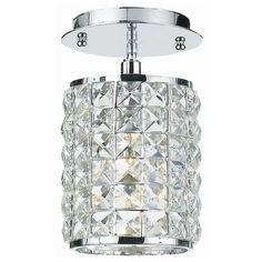 Chelsea Crystal & Chrome Semi-Flush Round Ceiling Mount from @zincdoor #zincdoor #lighting