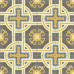 Encaustic Cement Tile - Sevilla | Great Britain Tile