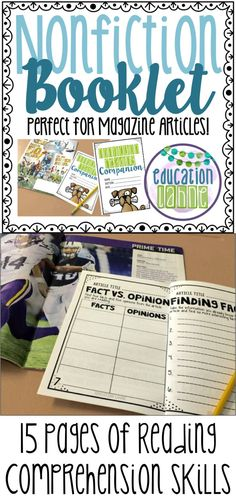 Do your students need nonfiction reading comprehension practice? Click the link to see how I use this booklet in my classroom!