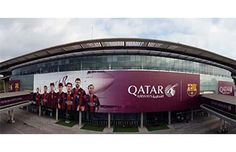 Qatar Airways renewed the branding that covers FC Barcelona's stadium, Camp Nou