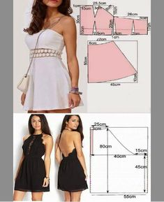 The familiar tailor shared simple patterns of stylish dresses! It will turn out even at beginners Fashion Sewing, Diy Fashion, Fashion Dresses, Dress Sewing Patterns, Clothing Patterns, Costura Fashion, Diy Dress, Prom Dress, Stylish Dresses