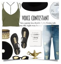 """The Voice-Genie in a bottle"" by ambacasa ❤ liked on Polyvore featuring Schutz, Pierre Hardy, Jaeger, River Island, MICHAEL Michael Kors, IPANEMA, Daytrip, rag & bone, thevoice and YahooView"