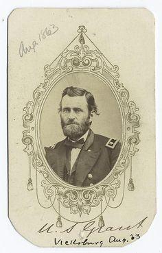 U.S. Grant, Vicksburg - Ulysses S. Grant American Civil War, American History, Ulysses S Grant, Tintype Photos, Rolling Thunder, Union Army, School Reunion, Confederate Flag, Civil War Photos
