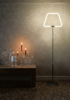 Archetto Shaped Floor Lamp by Antonangeli is a modern Italian floor lamp with a clean design. Two different lighting sources available (LED technology): White, RGB color shades). Cool Lighting, Modern Lighting, Lighting Ideas, Lighting Design, Led Floor Lamp, Living Room Modern, Living Rooms, Living Spaces, Chrome Plating