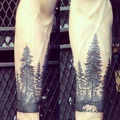 52 Tree Forearm Tattoo