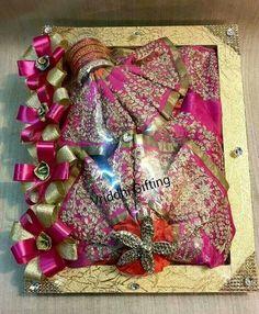 Indian Wedding Gifts, Indian Wedding Decorations, Indian Bridal, Wedding Cards, Diy Wedding, Wedding Ideas, Wedding Designs, Bridal Gift Wrapping Ideas, Trousseau Packing