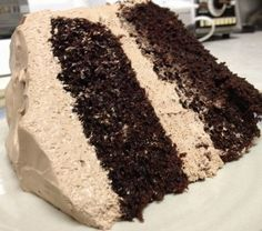 Best chocolate cake with chocolate cream cheese frosting -- fudgy cake with a light delicious frosting