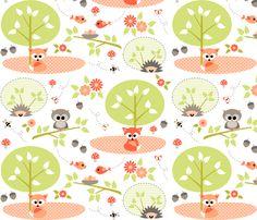 Woodland babies fabric by heleenvanbuul on Spoonflower - custom fabric