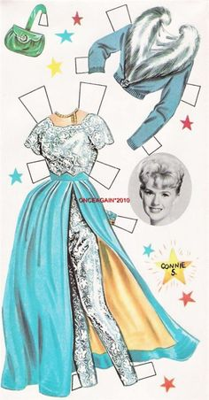 1961 Connie Stevens paper doll clothes / eBay