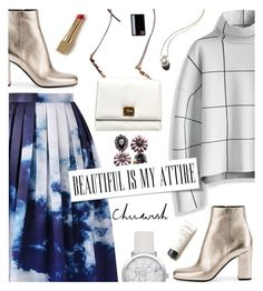 """""""Chicwish OutfitIdea"""" by wannanna ❤ liked on Polyvore featuring Chicwish, Yves Saint Laurent, Dolce&Gabbana and Garance Doré"""