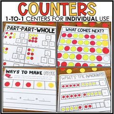 Feeling uneasy about prepping for next year? Whether you are in the classroom or are teaching virtually, these 1:1 Counters Centers will come in handy! Each student will have his/her set of counters and mats, and they are good to go! No cutting sets of games/centers for each student! Engage your students at school and/or at home with our 1:1 centers! Part Part Whole, 2nd Grade Teacher, Simple Prints, Printed Pages, Making 10, Used Parts, Word Problems, Professional Development, Teaching Math
