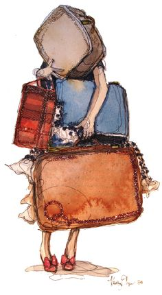Ready to travel...by Katie Rodgers - how I feel sometimes when I'm traveling home to Morocco!