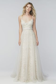 size 32W Moonlight. Windsor Overskirt 16904 | Bridal Accessories | Wtoo by Watters