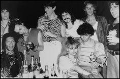 Nina Hagen, Karl Rucker and the band Los Abuelos de la Nada, Ibiza 1984 by Andy Cherniavsky