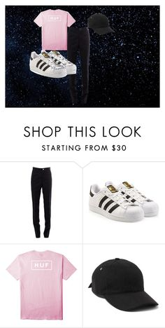 """""""Alternative"""" by yess0616 on Polyvore featuring Thom Browne, adidas Originals, HUF, A.P.C., men's fashion y menswear"""
