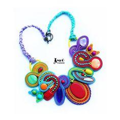 Dreamlike & Very Colorful Soutache Necklace OOAK by MrOsOutache