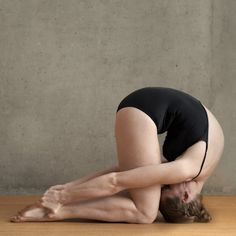 Rabbit Pose, good for sinus and tonsils, insomnia and depression