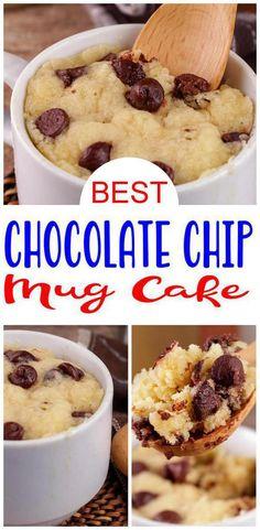 Mug Cookie Recipes, Microwave Mug Recipes, Mug Cake Microwave, Fun Baking Recipes, Easy Cake Recipes, Easy Desserts, Sweet Recipes, Delicious Desserts, Yummy Food