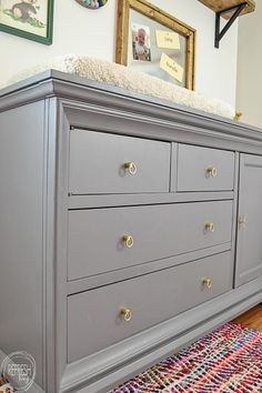 Ordinaire Update To A Nursery Dresser And Changing Table