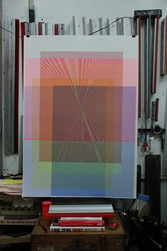 Within the printing business, the moiré effect is mostly considered to be an unwanted effect. This is true, but only regarding the way it is created and used. In some applications, it can be extremely interesting, from an aesthetic point of view. In this study, the manual experimentation on the rotation and placement of the line art and the variation of color produce a feast for the eyes, lively patterns that move and alter as the viewer changes position across them.