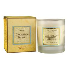 Caribbean Shores Candle by Wax Lyrical Candle Box, Tin Candles, Scented Candles, Candle Jars, Candle Holders, Provence Lavender, Cotton Box, Wax Lyrical, Classic Garden