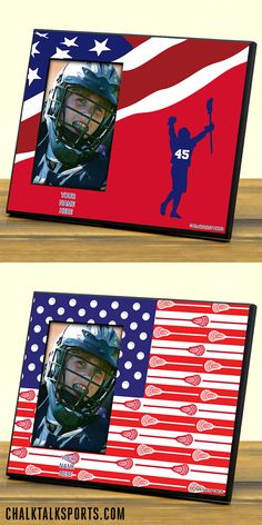 These USA Pride Custom Lacrosse Photo Frames are a great gift for any lacrosse player! Only from ChalkTalkSPORTS.com!